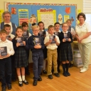 3rd grade class with their dictionaries from Hastings Rotary Club